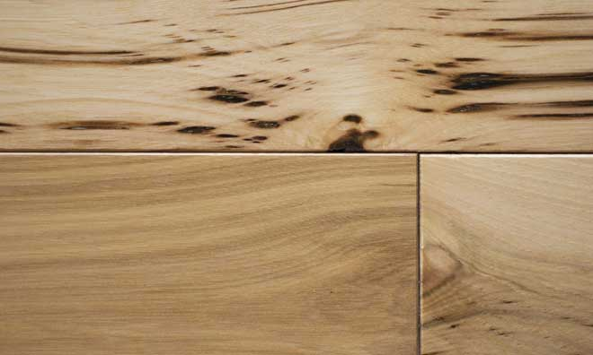Hickory Wood Floor Grain