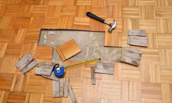 Repairing Damaged Wood Parquet Flooring