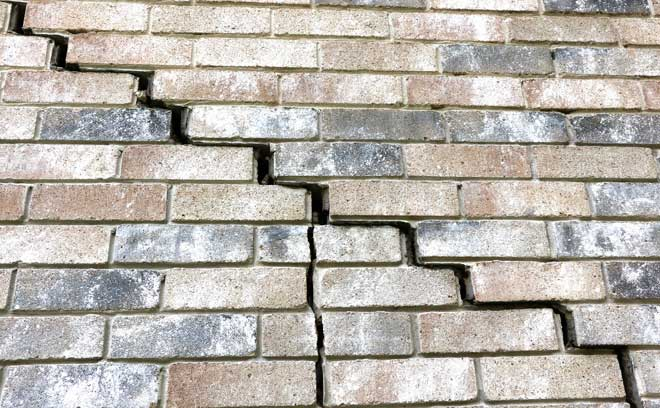 Brick Foundation Shifted and Cracked