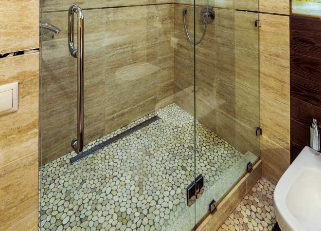Stone Shower Floor