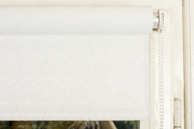 Textured White Roller Shades