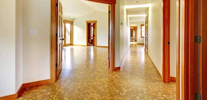 Cork Flooring in a Newly Built Luxury Home
