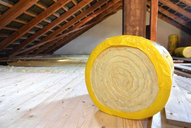 Roll of Insulating Glass Wool