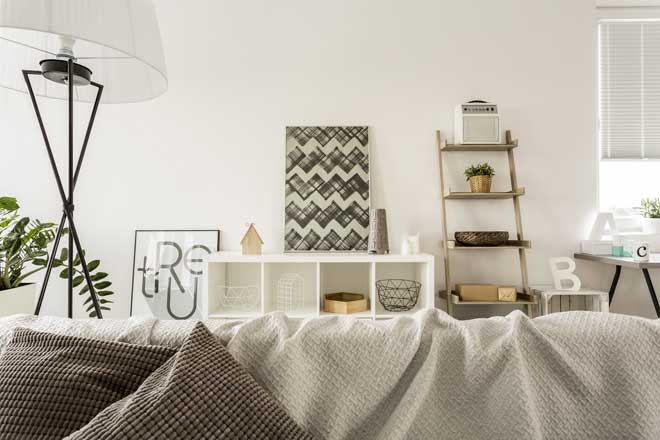 Creative Shelving in Living Room