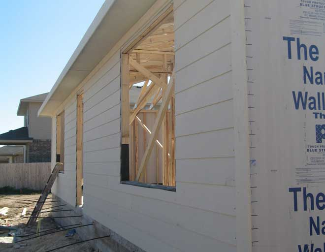 Fiber Cement Siding Installed