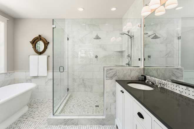 Modern Luxury Shower in Master Bathroom