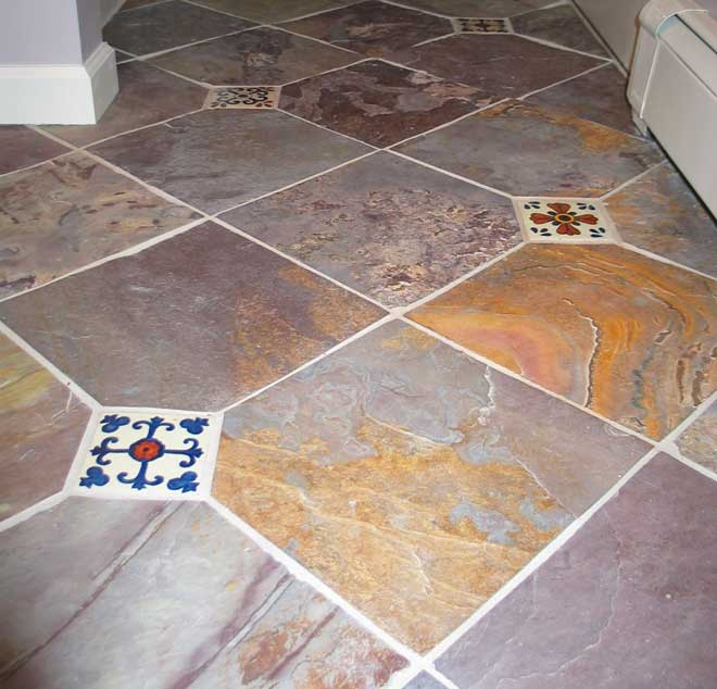 Slate and Talavera Tile Flooring