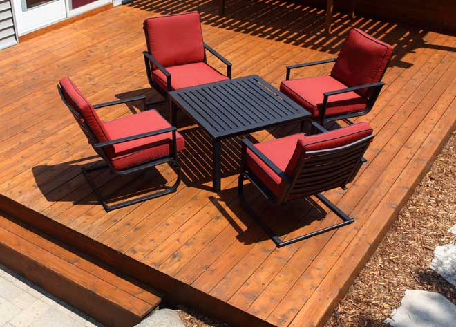 Stained Wood Patio Flooring