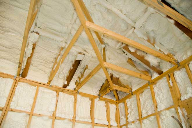 Spray Foam Insulation in New House Construction