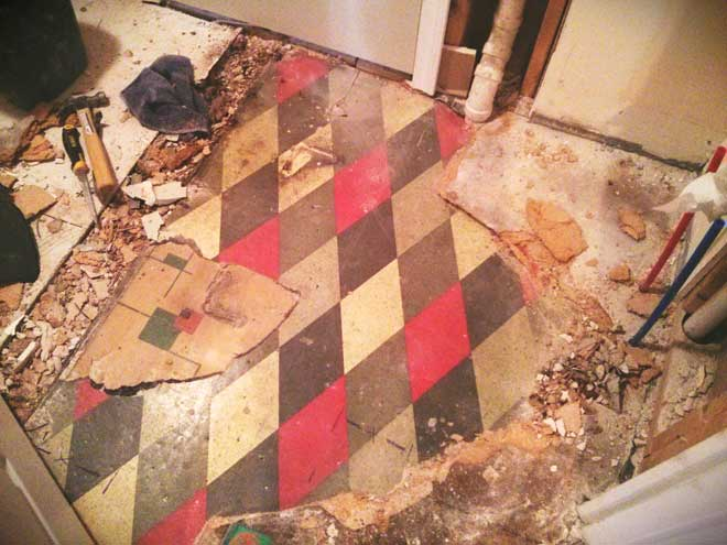 Tearing Up Old Linoleum Flooring