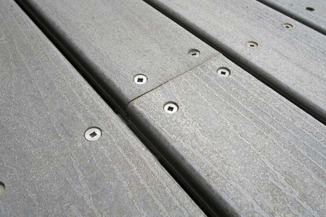 Close Up of Newly Installed Composite Deck