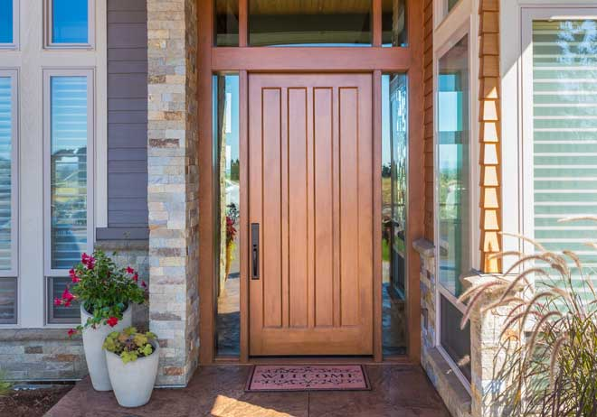 Elegant Wood Home Entry Door