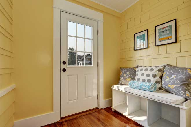 Storage Bench in Home Entryway
