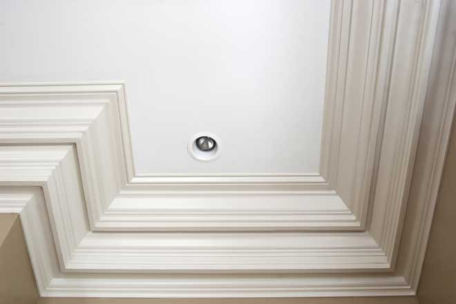Triple Crown Molding and Ceiling Light