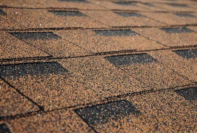 Close Up of New Asphalt Shingles