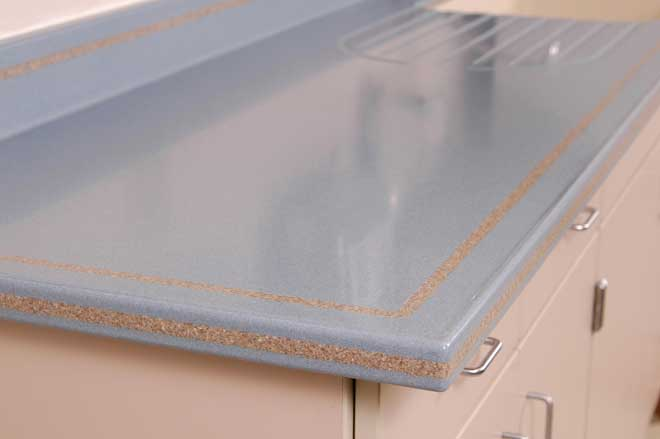 Solid Surface Countertop with Inlay