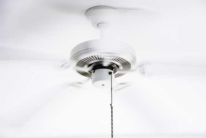 Ceiling Fan Turned On