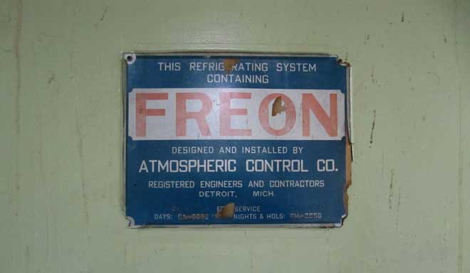 Freon Label Message