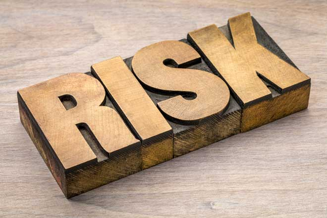 Wooden Letters Spelling Out the Word Risk