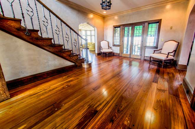 Teak Floor and Stairs