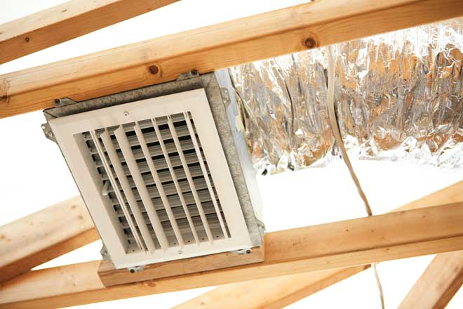 Exposed Ductwork and Air Register