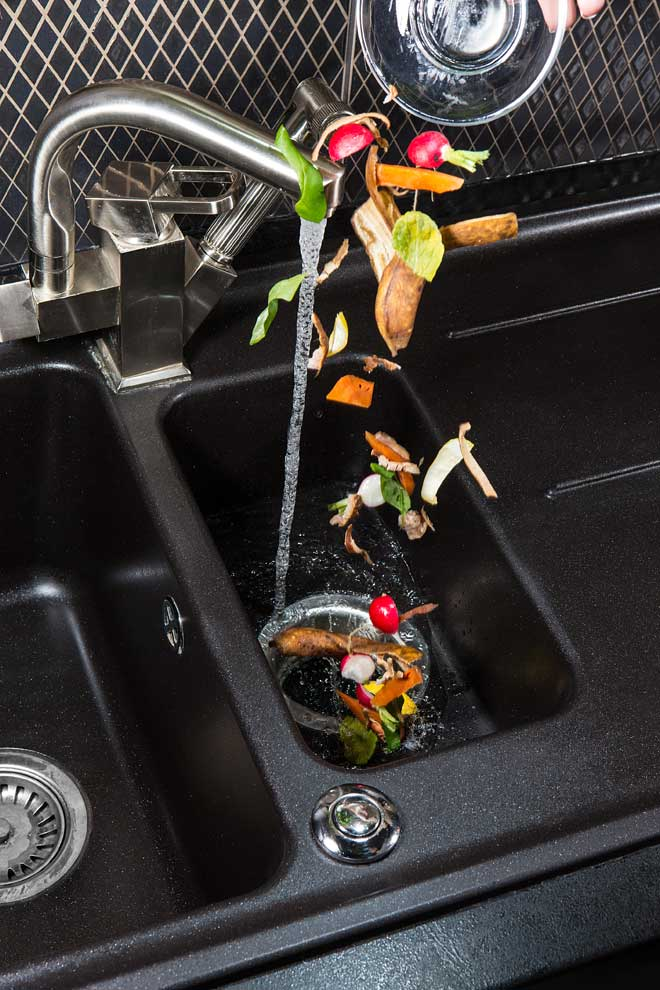 Putting Food in Garbage Disposal
