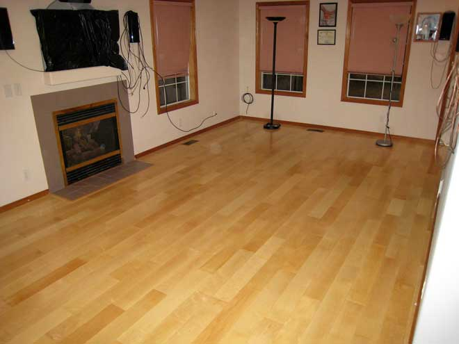 Newly Installed Engineered Maple Flooring