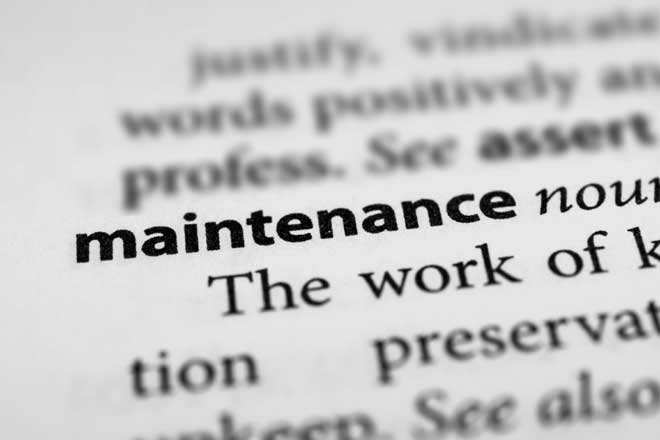 Definition of the Word Maintenance