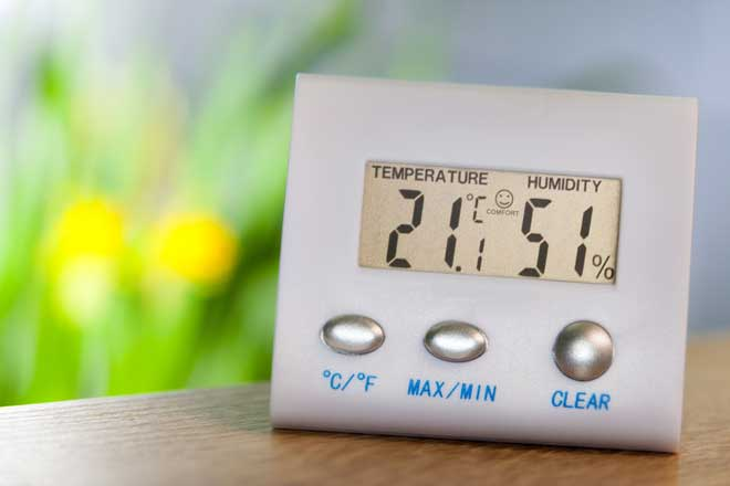 A Digital Hygrometer and Thermometer