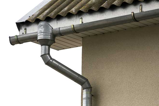Steel Gutters with Downspout