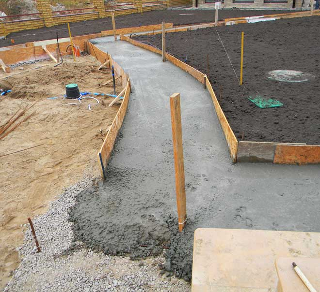 Creating a Concrete Walkway