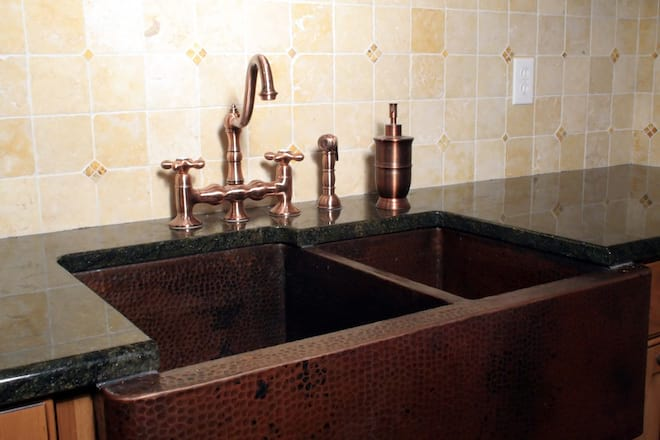 Beautiful Copper Farmhouse Kitchen Sink