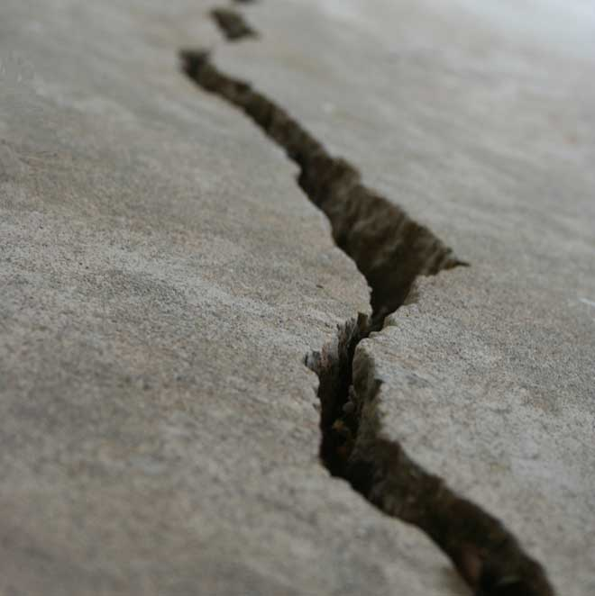 Macro Shot of Cracked Foundation