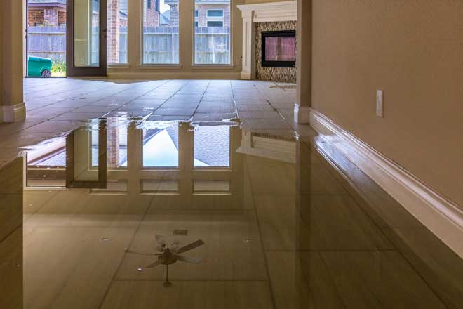 Flooded Floor in Home