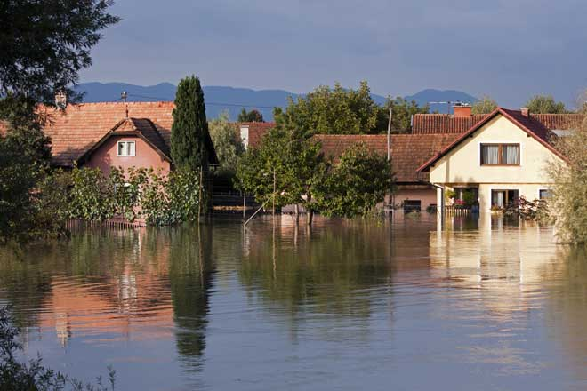 Severely Flooded Houses