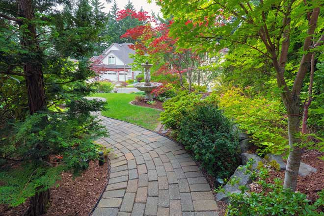 Garden Walkway in Front Yard
