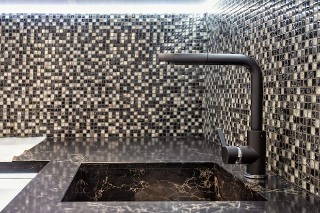 Contemporary Natural Stone Kitchen Sink