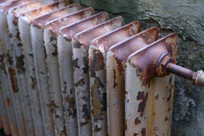 Old and Rusty Radiator