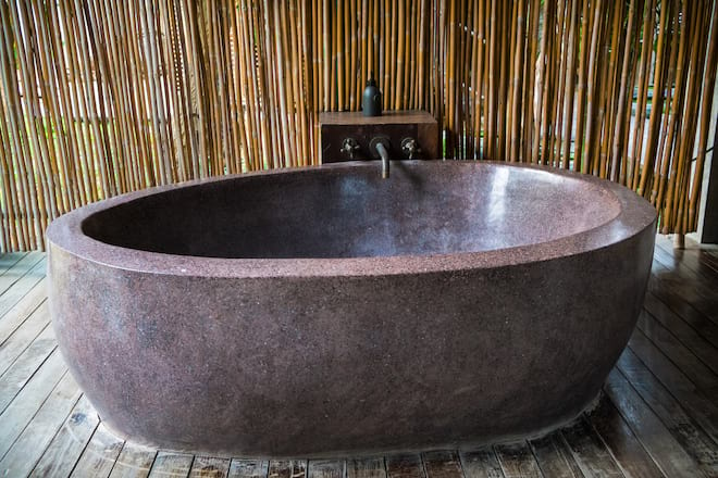 Outdoor Stone Bathtub