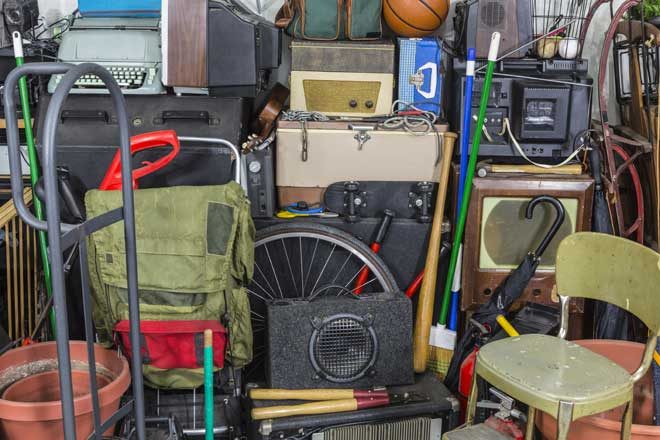 Storage Area Filled with Clutter