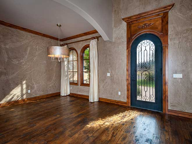 Handscraped Hardwood Floor in Exquisite Spanish Style Home