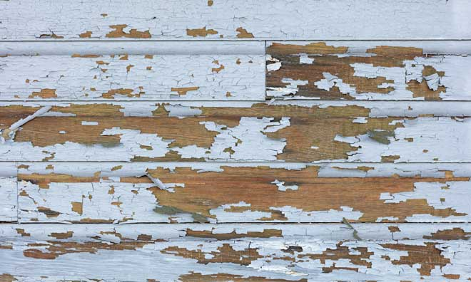 Peeling Lead Paint on Old Wood Siding