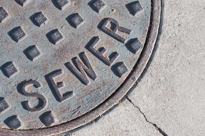 Metal Sewer Cover