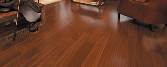 Mahogany Floor in Living Room