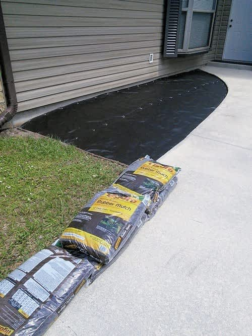 Bags of Rubber Mulch