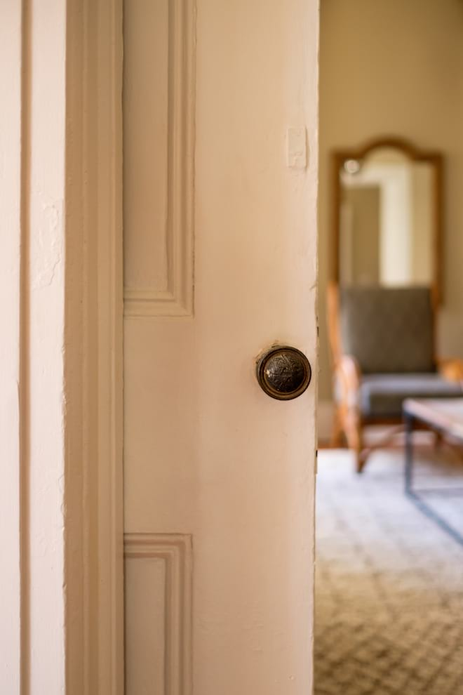 White Pocket Door