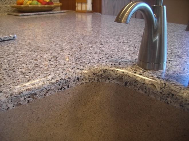 Seamless Solid Surface Sink