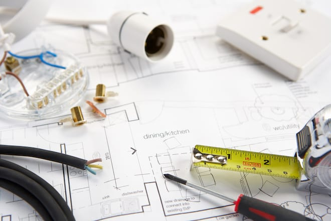 Wiring Materials on Top of Home Plans