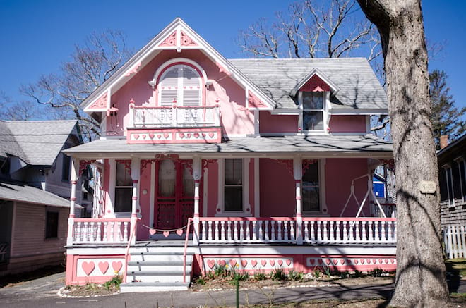Pink Carpenter Gothic House