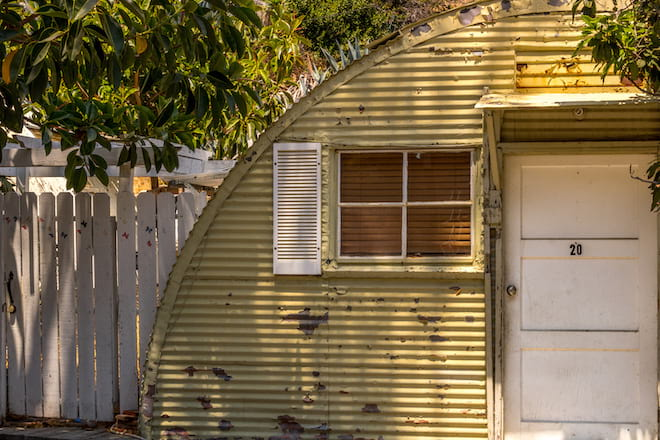 Weathered Quonset Hut Home
